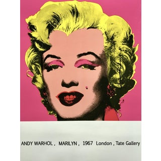 Andy Warhol 'Marilyn (Tate Gallery)' 1987 Hand Signed Original Pop Art Poster For Sale