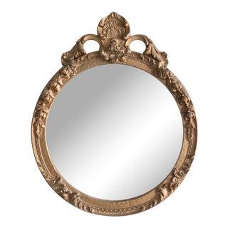 Antique Round Ornate Wall Mirror