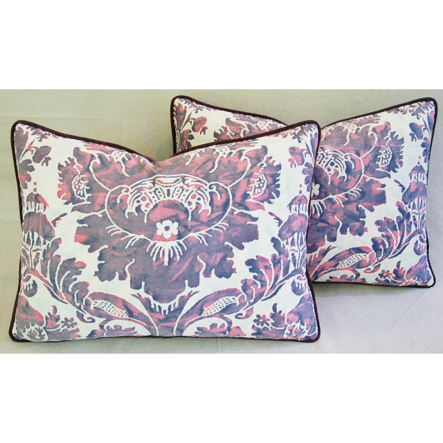 Designer Italian Fortuny Vivaldi Pillows - A Pair - Image 3 of 11
