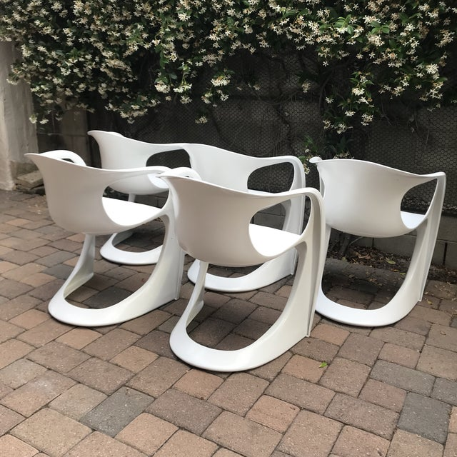 Mid-Century Modern Mid Century Vitra Style Monolith Chairs- 5 Pieces For Sale - Image 3 of 11