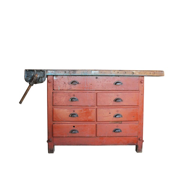 Industrial Red Workbench - Image 1 of 3