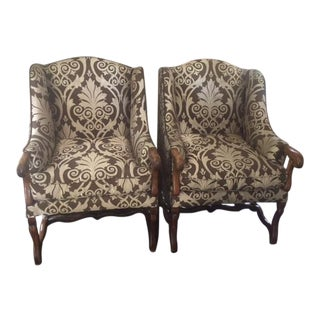 18th Century French Walnut Os Du Muton Arm Chairs - A Pair For Sale