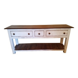 English White Server Sofa Table For Sale