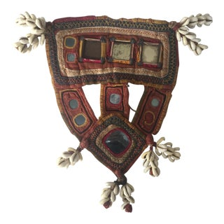 Indian Embroidered Mirrored Shell Tassel Camel Mask For Sale