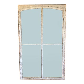 Shabby Chic Arched Window With Original Glass For Sale