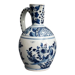 Antique Delft Chinoiserie Pitcher For Sale