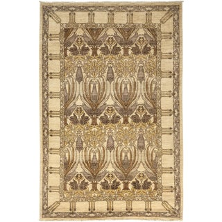 """Arts & Crafts Hand Knotted Area Rug - 4'10"""" X 7'7"""" For Sale"""