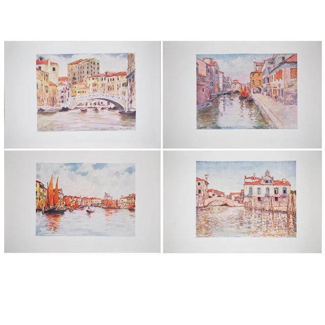 Gold Leaf 1912 Mortimer Menpes, Venice Original Period Lithographs, Set of 4 For Sale - Image 7 of 7
