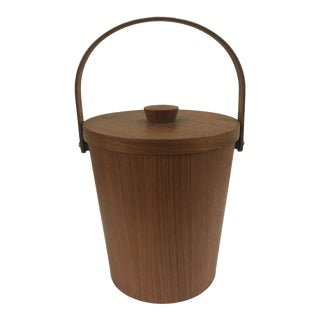 Mid Century Modern Teak Ice Bucket For Sale