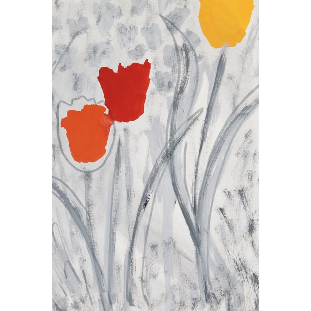 Abstract Floral Tulip Painting by Cleo - Image 2 of 2