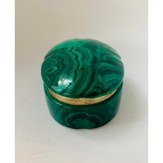 Vintage Malachite Style Porcelain Hinged Box Preview