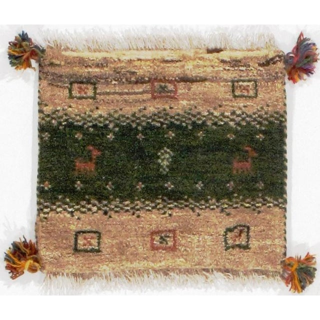 Pasargad N Y Persian Gabbeh Scatter Rug - 1′3″ × 1′3″ For Sale - Image 4 of 4