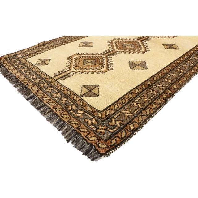 "Brown Vintage Persian Shiraz Rug - 3'5"" x 6'9"" For Sale - Image 8 of 11"