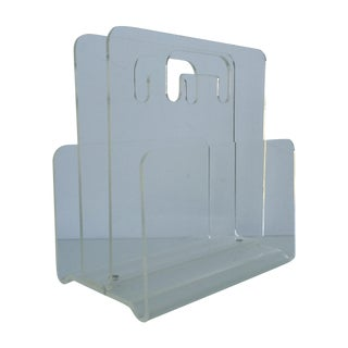Lucite Divided Magazine Holder