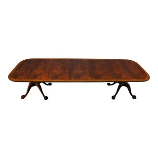 Chippendale Mahogany Dining Table For Sale