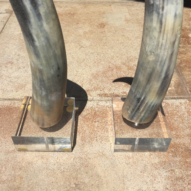 Vintage Tusk/Horn Decorations- A Pair For Sale - Image 5 of 5