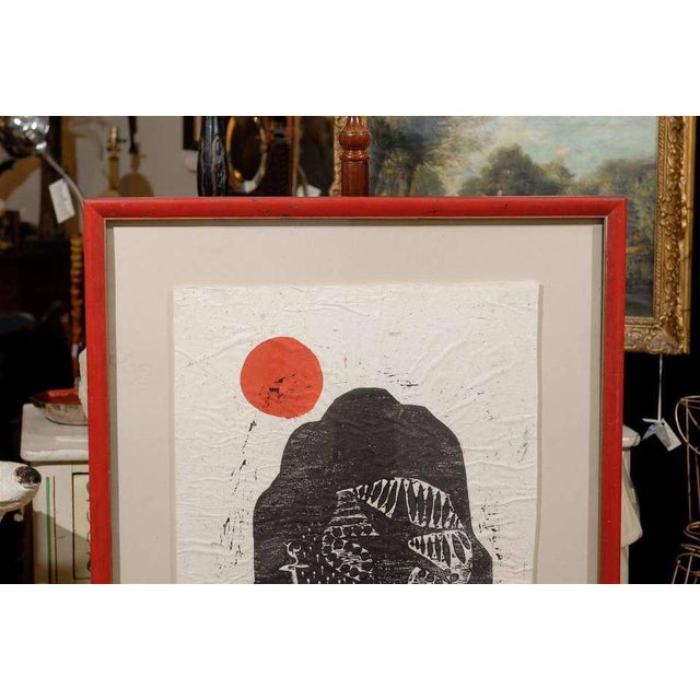 Paper Clausland Mountain, a Woodblock by Artist Jim Tanaka For Sale - Image 7 of 8