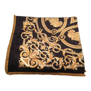 Gianni Versace Custom Made Lion and Urn Throw For Sale