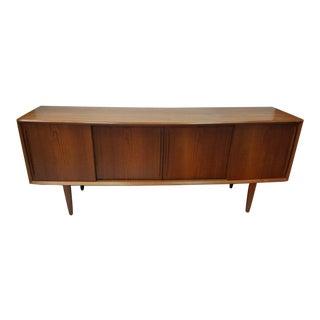 1950s Danish Modern h.p. Larsen for Randers Teak Credenza For Sale