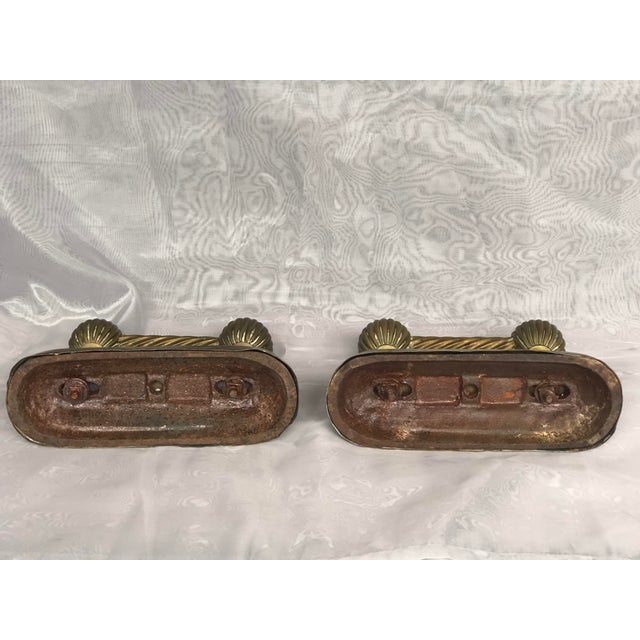 Antique Victorian Fire Dogs- a Pair For Sale - Image 9 of 13