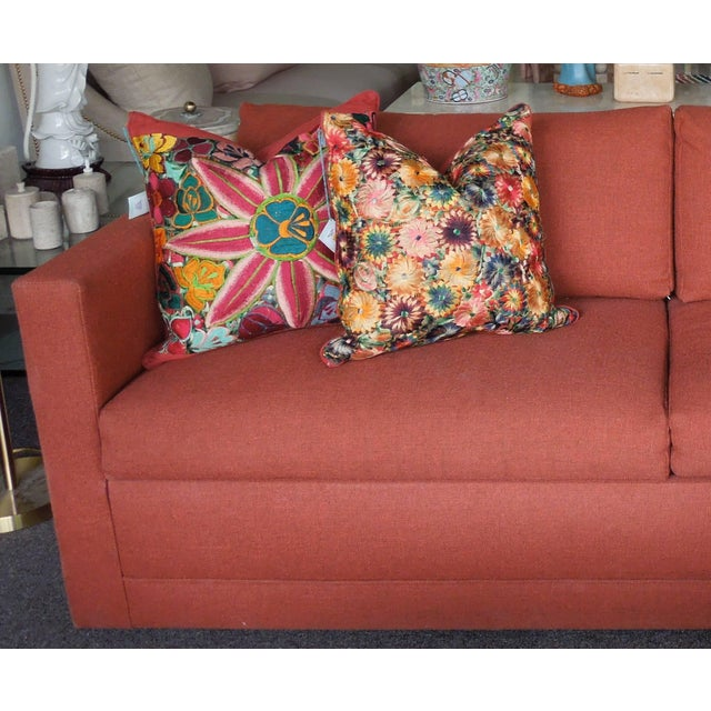 Excellent 1970S Architectural Modern Rust Color Tweed Sofa Bed Chairish Machost Co Dining Chair Design Ideas Machostcouk