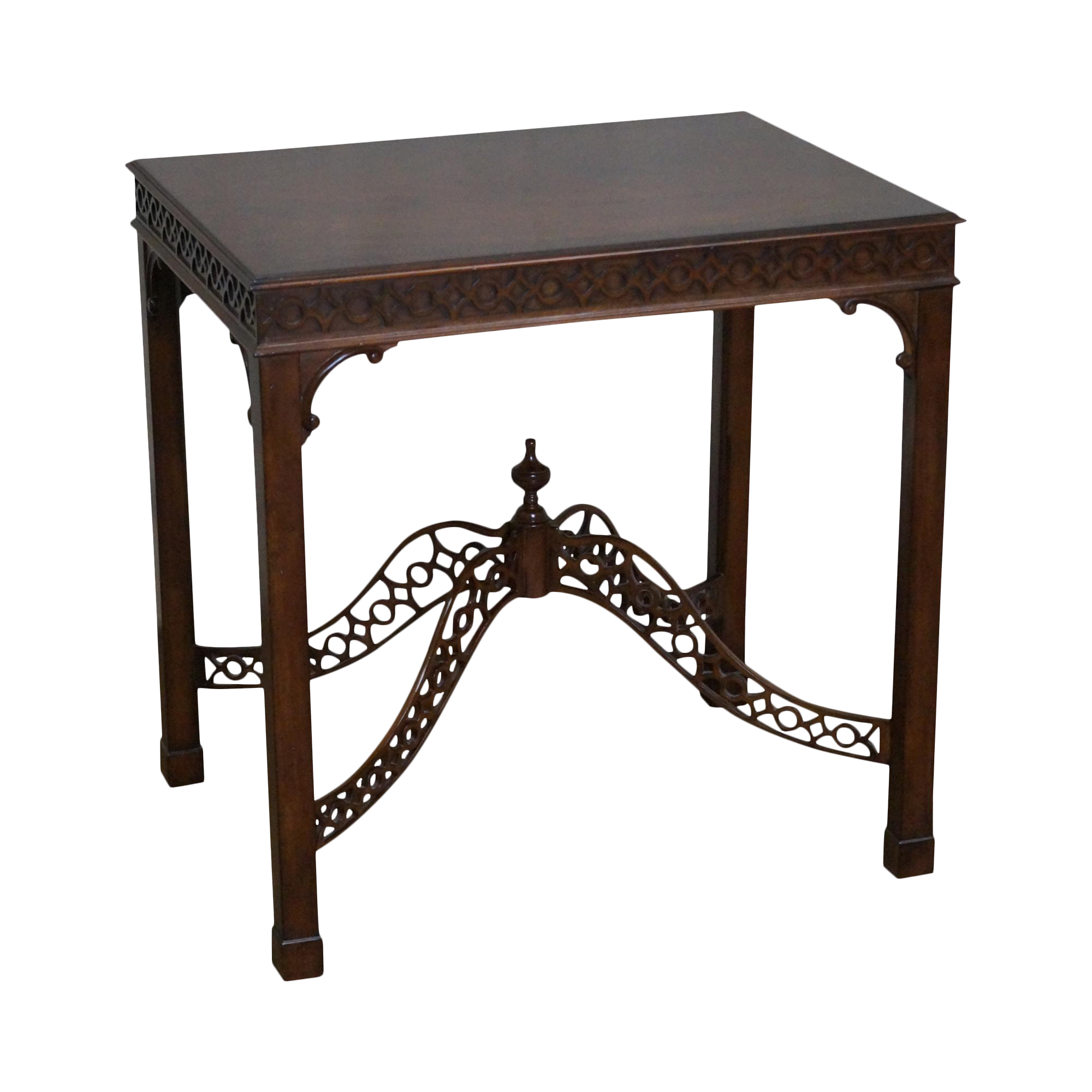 Merveilleux Ethan Allen Mahogany Chippendale Style Side Table