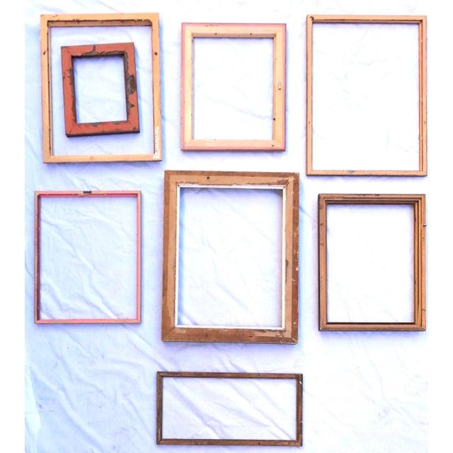 Boho Chic Vintage Boho Chic Wood Frames - Set of 8 For Sale - Image 3 of 13