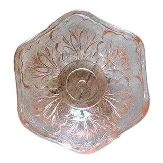 Vintage Petite Pink Fleur Dish For Sale