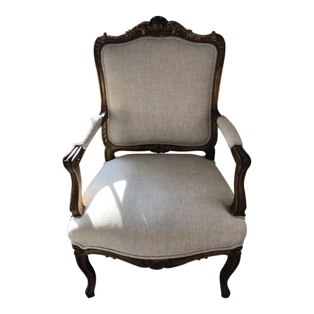 1920s Vintage French Oversized Sitting Chair For Sale