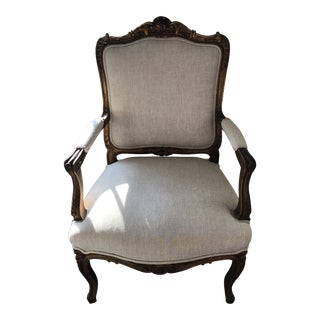 Vintage French Oversized Sitting Chair For Sale