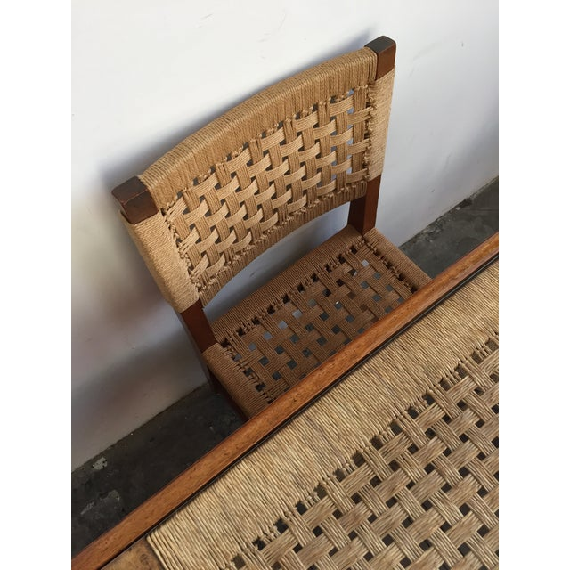 Mid Century Jute Dining Set For Sale - Image 5 of 10