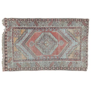 "Distressed Oushak Rug - 3'5"" X 5'7"" For Sale"
