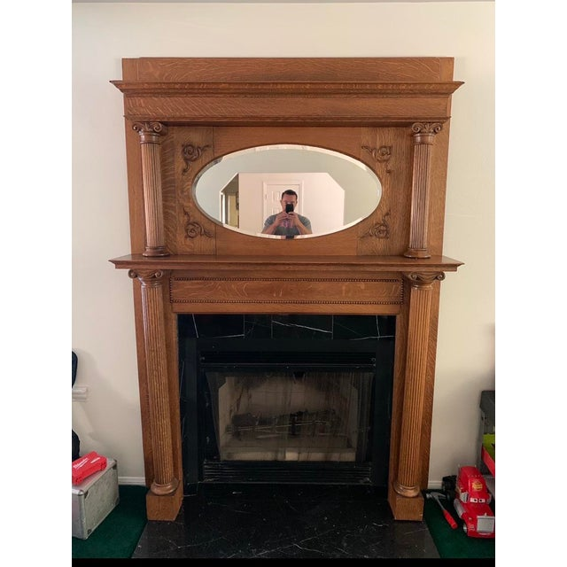 Antique Victorian Wooden Fireplace Mantel For Sale In Los Angeles - Image 6 of 6