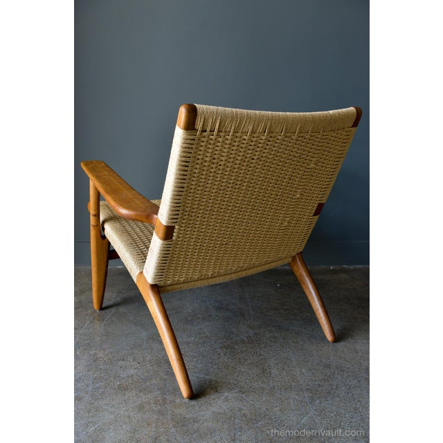 1950s Vintage Hans Wegner for Carl Hansen & Son Ch 25 Lounge Chair For Sale In Los Angeles - Image 6 of 12