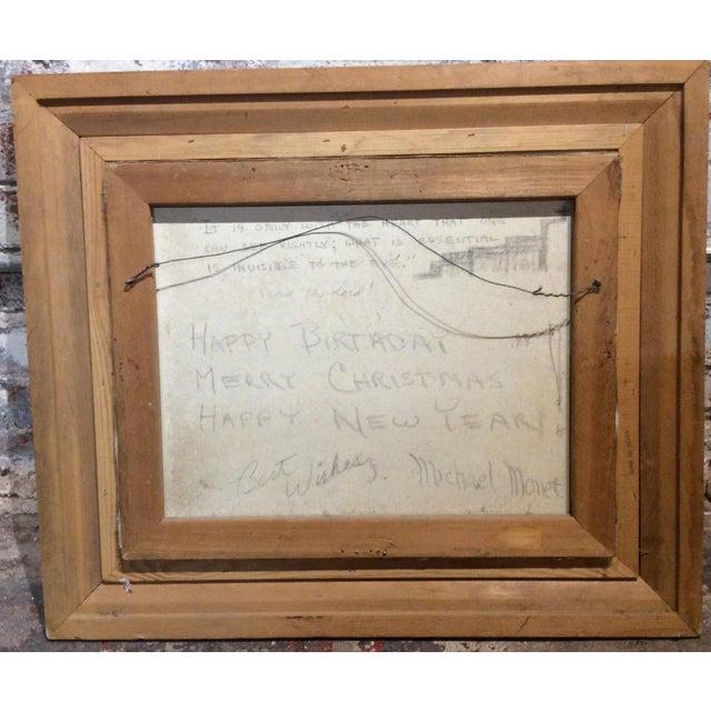 1960s Antique Framed Impressionism Signed Painting For Sale - Image 5 of 11