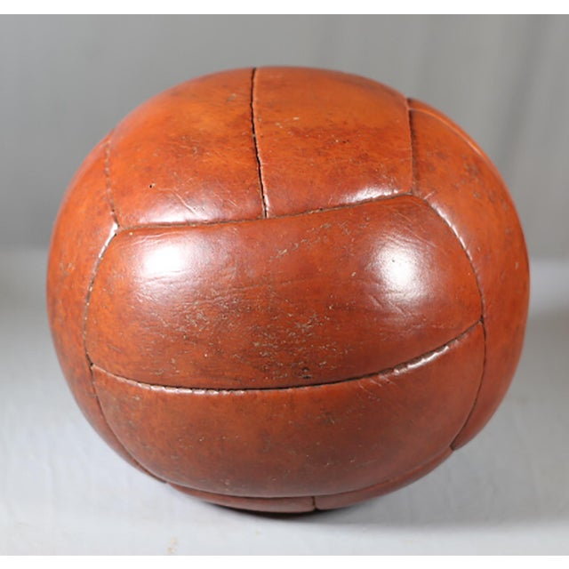 Early 20th-C. Leather Medicine Ball - Image 3 of 3