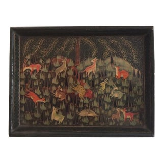 Lacquered Paper Mache Tray For Sale