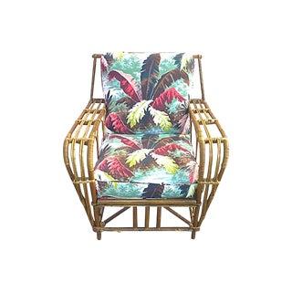 Mid-Century Modern Rattan Club Chair For Sale