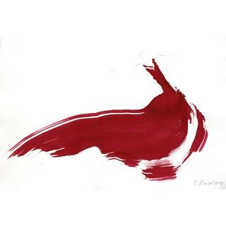 """The Red Cloth 129"" Original Artwork by Bettina Mauel For Sale"
