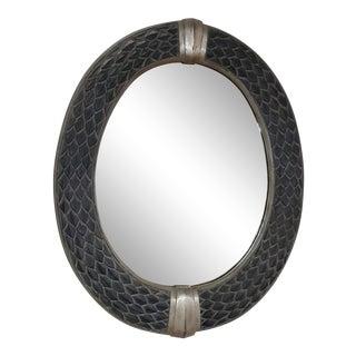 Neoclassical Maitland Smith Snake Skin Design Frame For Sale