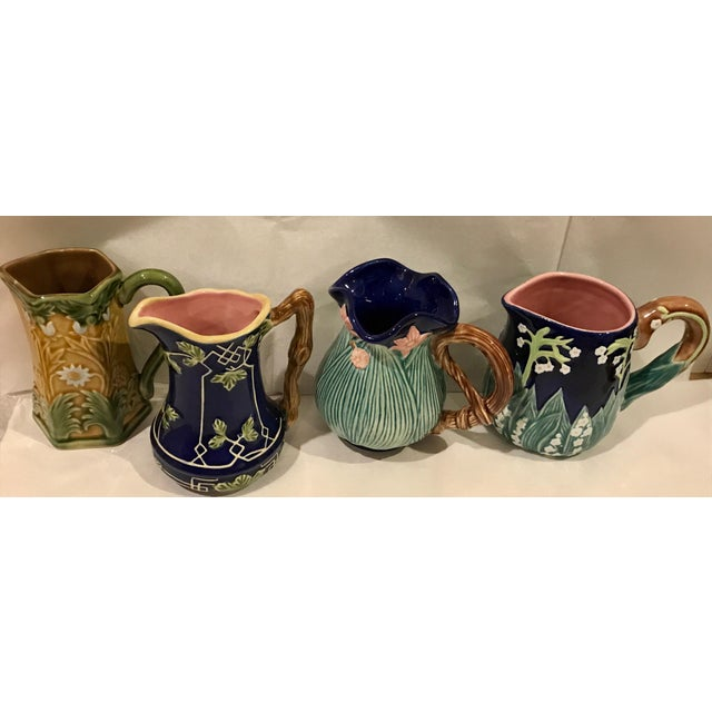 Jay Wilfred for Charles Sadek Inc. Majolica Pitchers - Set of 4 - Image 2 of 11