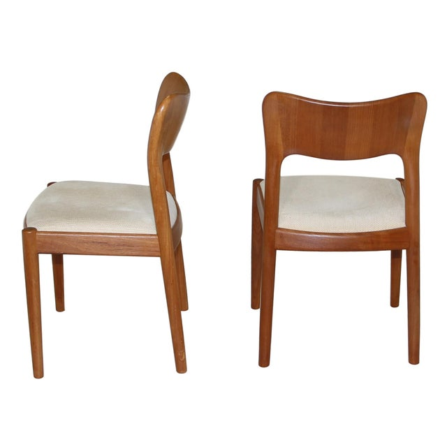 Mid-Century Modern 6 Danish Teak Chairs by Niels Koefoeds For Sale - Image 3 of 10