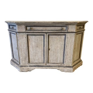 Tuscan Painted Buffet Credenza - 19th C For Sale
