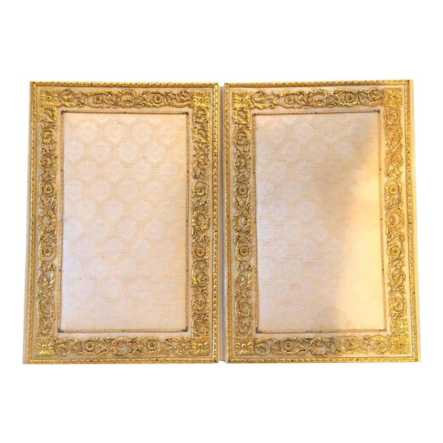 Fine Gilt Bronze and Fabric Fold Desk Blotter Possibly J Caldwell - a Pair For Sale