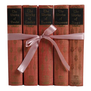 Vintage Book Gift Set: French Blush Classics, S/5