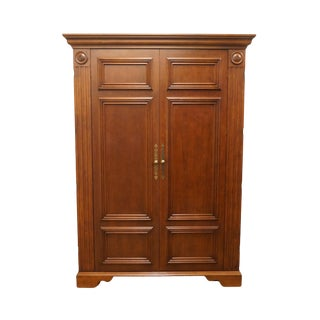 "20th Century Traditional Sligh Furniture Homeworks Home Office Collection 58"" Media Armoire/Storage Cabinet For Sale"