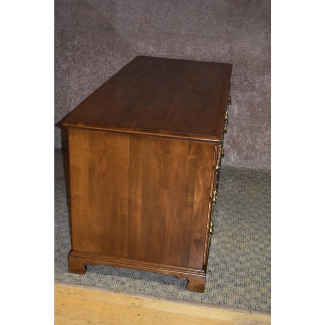 1960s Early American Ethan Allen Executive Desk For Sale - Image 10 of 12