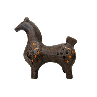 Mid-Century Ceramic Bitossi Horse by Aldo Londi For Sale