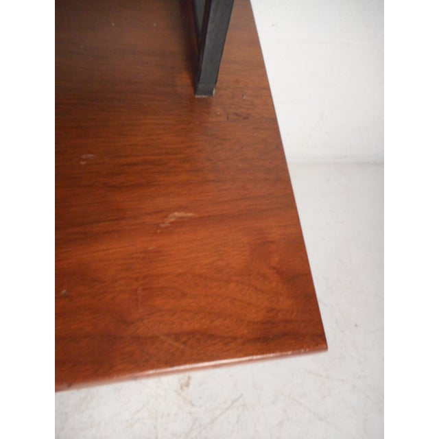 Brown Vintage Modern Credenza With Topper by Stanley For Sale - Image 8 of 13