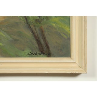 Impressionist Green Forest Landscape by Ole Skibstrup Preview